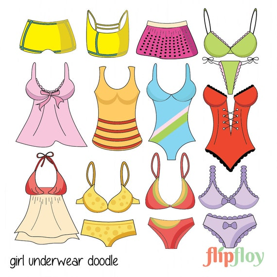 girl in underwear pictures girl underwear instant download 16 cartoon doodle woman 9192