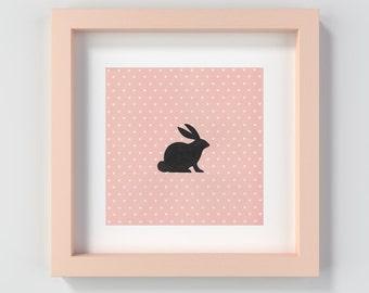 Nursery Art, Baby Shower Gift, Bunny Print, Nursery Decor, Nursery Print, Printable Nursery Art, Baby Girl Decor, Bunny Wall Art, Cute Art