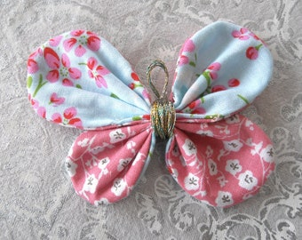 BUTTERFLY fabric pink/blue
