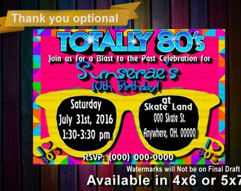 80s Invitation 80s Party 80s Birthday Invitations 80s