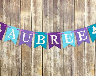 Mermaid Name Banner, Mermaid Birthday, Mermaid Baby Shower, Photo Prop, Party Decor, Under the Sea