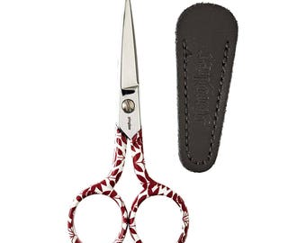 Gingher 4 Inch Embroidery Scissors, Designer Gingher Scissors, Gingher Sawyer Collectable Scissors, Sewing Tools, Quilting
