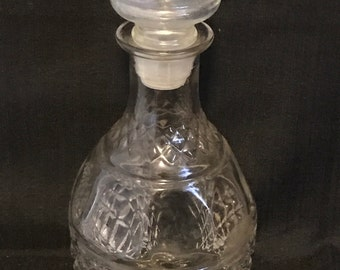 Vintage Decanter Glass Vintage Bar Item SALE PRICE was 30. now 20.00