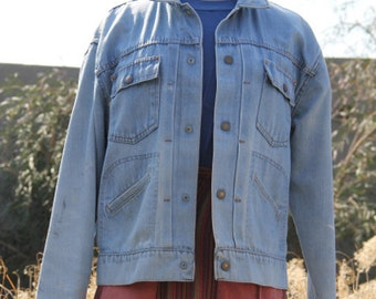 vintage beautiful rare 60s denim jacket