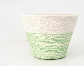 Greenery green, Beach house decor, Indoor planter Beach style decor, Decor accessories Minimal beach house, Kitchen basket Fruit cotton bowl