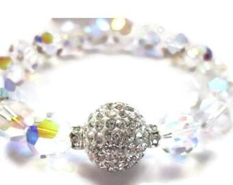 Swarovski Bracelet, Chunky Bracelet, Disco Ball Bracelet , Sparkle Jewelry, Pave Bracelet, Bling