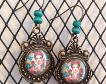 FRIDA k - earrings studs and wooden beads