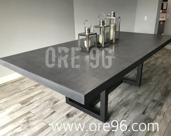Large modern contemporary dining table.