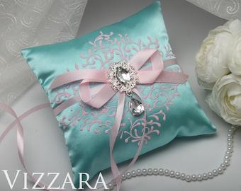 Ring bearer pillows Wedding mint Cheap ring bearer pillow Minted wedding Wedding ring bearer pillows Mint and pink wedding