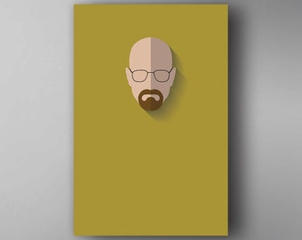 Walter White Inspired. Minimalistic. Breaking Bad. TV Show Poster. Wall Art.