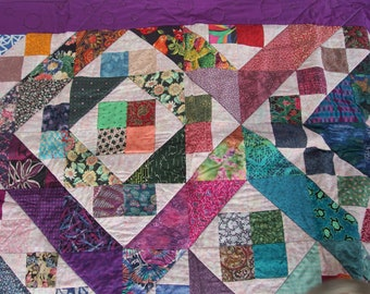 Jewel Tone Fish Quilt Wall Hanging