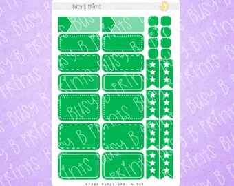 Green Functional Stickers (009)