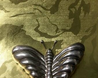 Sterling Silver Butterfly Brooch/Pendant