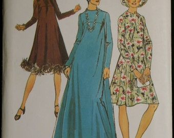 Simplicity 5972 Misses Flared Dress in Two Lengths Vintage 70s Sewing Pattern