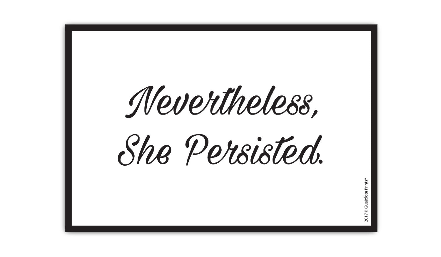 Guajolote Prints Nevertheless She Persisted Mail Postcards