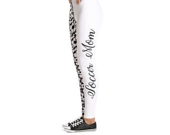 Soccer Mom Leggings -Yoga Pants - Mom Leggings- Gift for Soccer Mom-Soccer Mom- Mother's Day gift-Gift for Mom-Yoga Leggings-Leggings Women