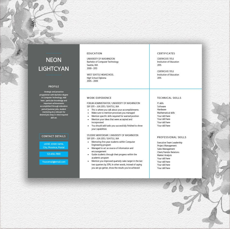 Landscape Resume Template Word Cover Letter Writing Tips