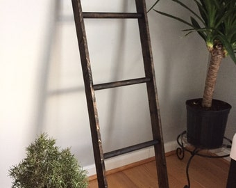 Antique Inspired Handmade Rustic Decorative Wooden Ladder