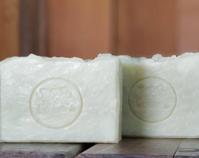 "Raw Sugar & Mint Scented Soap ""Caesar"" Soap Goddess Loves Shakespeare Soap, handmade vegetarian, lightly scented, yogurt soap, free shipping"