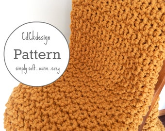 Crochet Pattern//Chunky Crochet Throw Blanket - Chunky Crochet Blanket - Chunky Afghan - Farmhouse Decor - Beginners Pattern