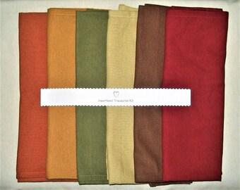 Dunroven House Set of 6 Flour Sack Towel Bundle Beautiful Autumn ~ Fall Colors