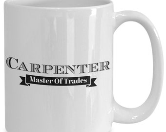 Master carpenter mug gifts for men