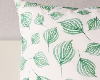 Outdoor Pillow Cover | Swirling Leaves | Botanical Pillow