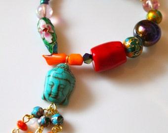 Buddha Bracelet - Buddha Jewelry - Boho Jewelry - Boho Bracelet - Stretch Bracelet - Good Luck Bracelet - Spiritual Jewelry - Karma Jewelry