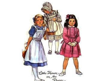 Pioneer Dress Pattern Official Little House on the Prairie Vintage Sewing Pattern Girls size 8 McCalls 8686