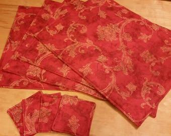 Place mat and coaster set of 8.