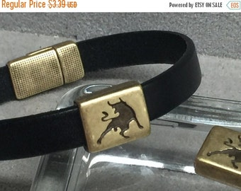 On Sale NOW 25%OFF Square Bull Sliders For 5-10mm Flat Leather Cord Ant Brass Z2563 Qty 2