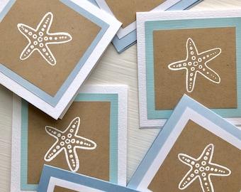Gift Enclosure Cards, Gift Tags, Starfish