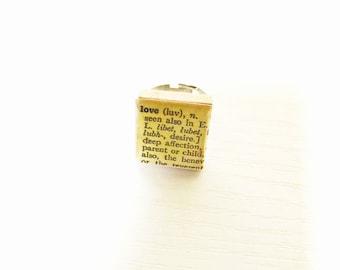 Love Scrabble Tile  Ring
