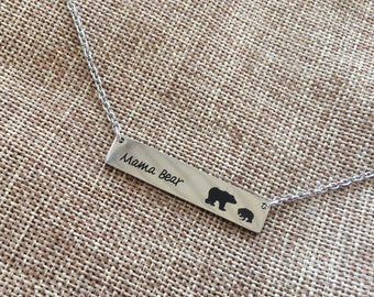 Mama Bear Necklace 1, 2, or 3 cubs