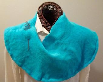 Turquoise Luxury Felted Merino Cashmere Scarf