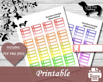 Dentist Appointment Planner Stickers -Labels-Happy Planner-Erin Condren-Reminder-MAMBI-Classic Planner-Mini Planner