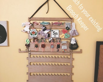 Double Pack - Jewellery Brooch Necklace Keeper Hanging Storage Unit - Organise and store all your brooches in the one place