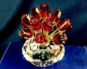 Swarovski Red Roses