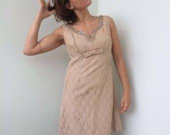 Abito vintage in pizzo e paillettes / vintage lace elegant dress