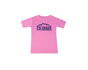 Colorado Lovers - Colorado Toddlers Short Sleeves Pink Tshirt.