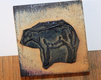 stamp authentic old wood: the sheep