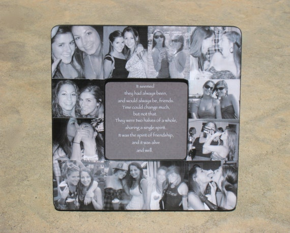 Perfect Wedding Gift For Sister: Best Friends Photo Collage Frame Personalized Sister Gift