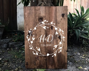 Wooden guestboard, wood wedding sign