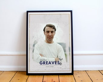 Jimmy Greaves Spurs A4 Poster - Football art print - Best selling art - #10 - Tottenham Hotspur - Spurs Vintage Print