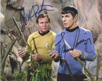 SHATNER & NIMOY cast signed autographed 8x10 PROFESSIONAL photo ( Pre - Print ) star trek actors .ready to frame and display . Free Shipping