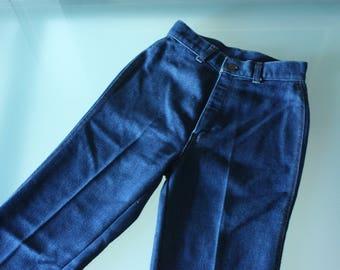 Vintage 70's XS Levi's Women's Indigo Straight Leg Denim