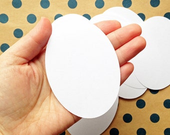 blank oval label stickers | label stickers | birthday christmas gift wrapping | scrapbooking | set of 30