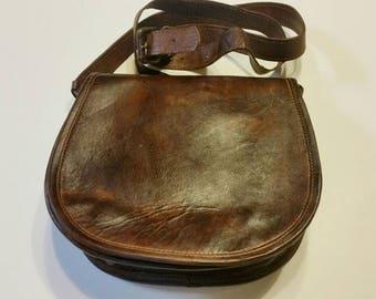 Leather bag, dark brown leather bag, crossbody leather  bag,  handmade bag, women's leather bag, leather messenger bag, brown leather bag.
