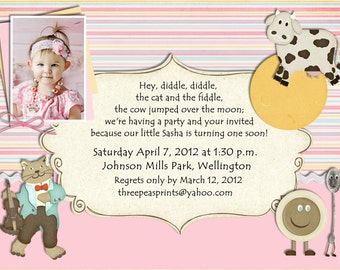 Little golden book birthday party invitation printables nursery rhyme birthday invitation mother goose theme printable photo card filmwisefo