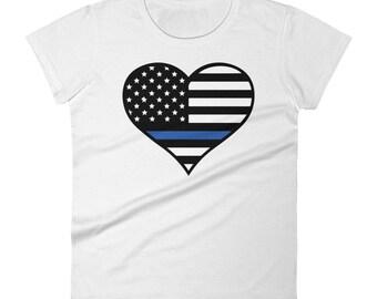 Thin Blue Line Women's short sleeve t-shirt